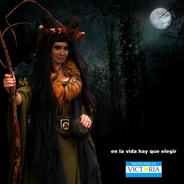 Cristina Kirchner Bruja Hechicera